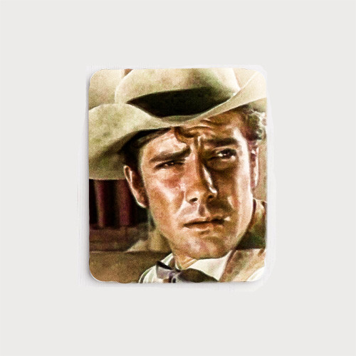 Robert Fuller Mouse Pad - Cooper Smith of Wagon Train