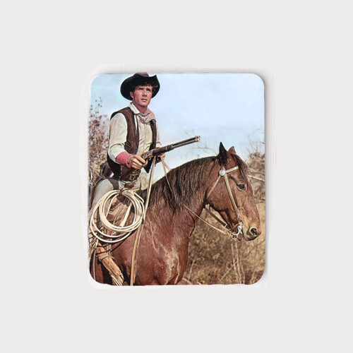 Robert Fuller Mouse Pad - Jess on his horse Traveler