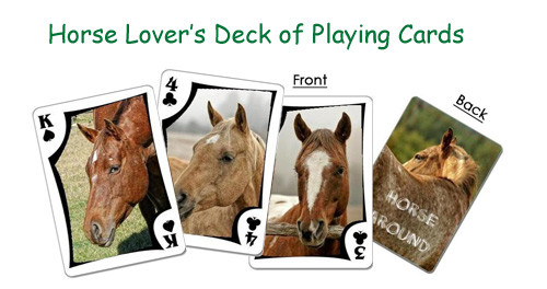 Deck of horse playing cards