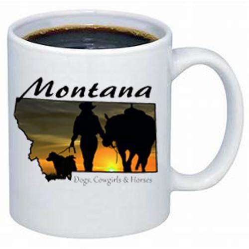 Montana Mug - Montana cowgirl coffee mug