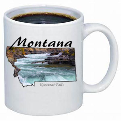 Montana Mug - Kootenai Falls near Libby, Montana