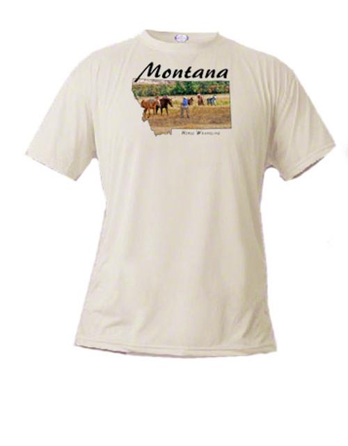 Montana t-shirt horse wrangler