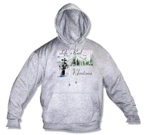Montana hoodie - life is reel in Montana