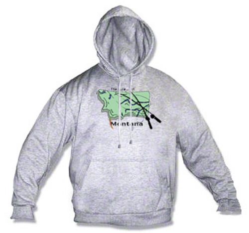 """Montana hoodie - the lure of Montana is it's many """"blue ribbon"""" streams"""