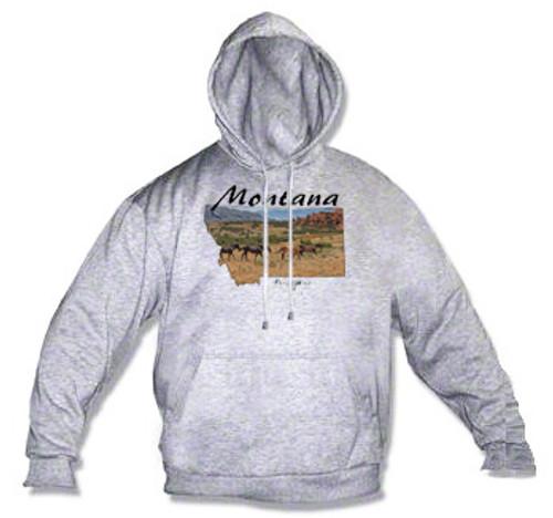 Montana hoodie - Pryor Mountain Wild horse range