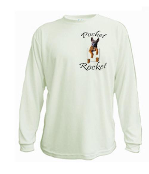 Malinois pocket rocket long sleeved tee