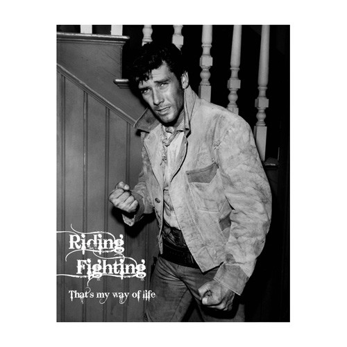 Black and white Robert Fuller wall poster