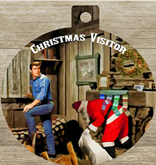 Robert Fuller Christmas tree ornament-Christmas Visitor