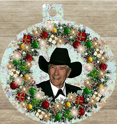 Robert Fuller Christmas tree ornament-Robert Fuller Wreath.