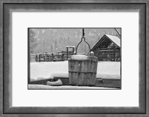 Snowed In - Snow blankets a Montana ranch barnyard