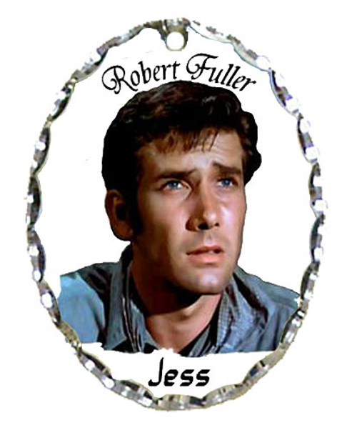 Robert Fuller silver plated oval shaped pendant-Robert Fuller is Jess