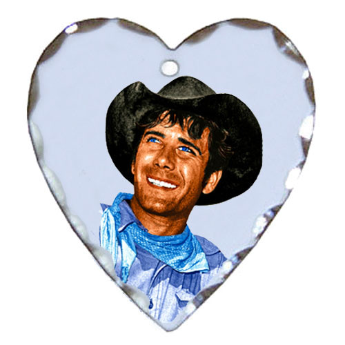 Robert Fuller silver plated heart shaped charm-Laramie's Smiling Jess