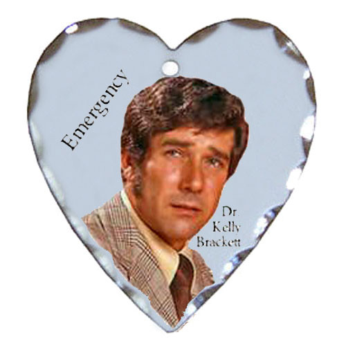 Robert Fuller silver plated heart shaped charm-Emergency's Kelly Brackett