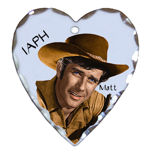 Robert Fuller silver plated heart shaped charm-Incident at Phantom Hill's Matt Martin
