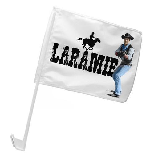 Robert Fuller Car Flag - Laramie Cowboy Jess