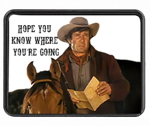 Robert Fuller-Trailer Hitch Cover- Hope You Know Where You're Going