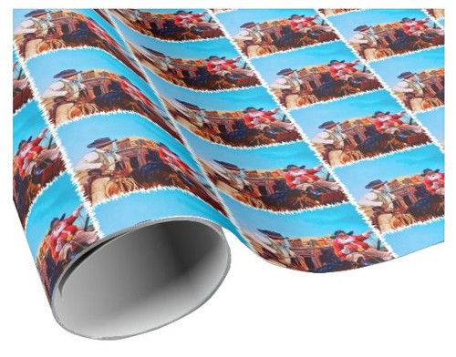 Robert Fuller Wrapping Paper - Santa Drives the Stage