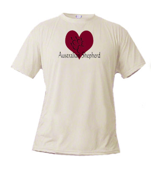 Basic t-shirt - I love Australian Shepherd dogs