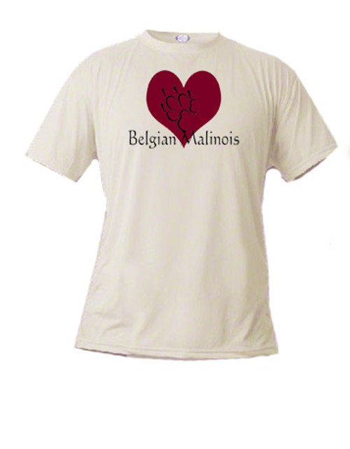 Basic t-shirt - I love Belgian Malinois Shepherd dogs