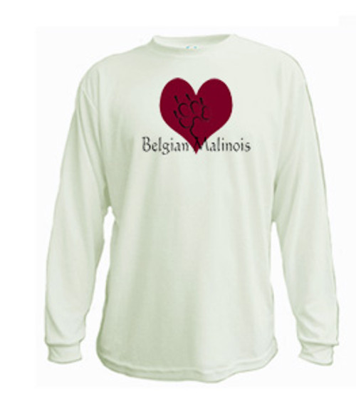 Long Sleeved t-shirt - I love Belgian Malinois Shepherd dogs