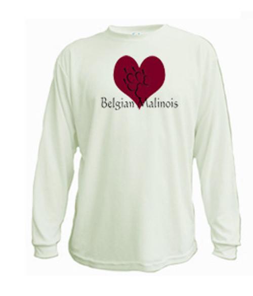Long Sleeved t-shirt - I love Belgian Malinois Shepherd dogs