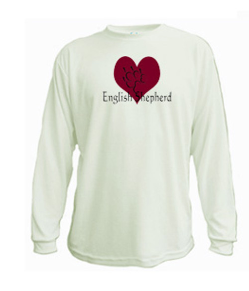 Canine Long Sleeved Tee - Heart English Shepherd
