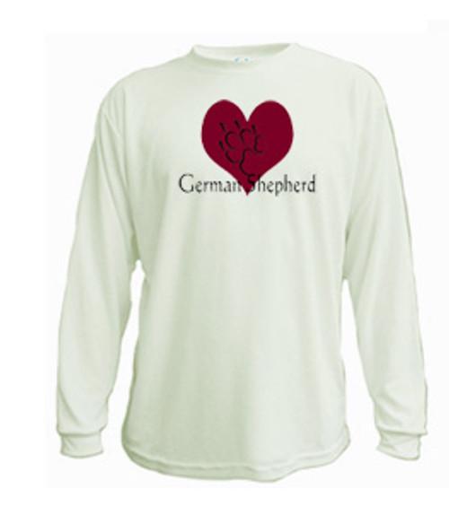 Long Sleeved t-shirt - I love German Shepherd dogs