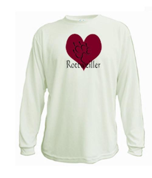 Long Sleeved t-shirt - I love Rottweiler dogs