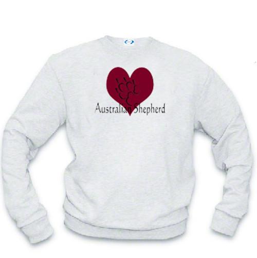 Sweatshirt - I love Australian Shepherd dogs