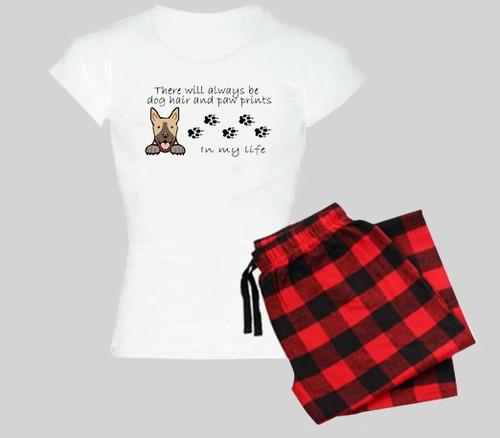 Dog Pajama Set - Dog Hair and Paw Prints