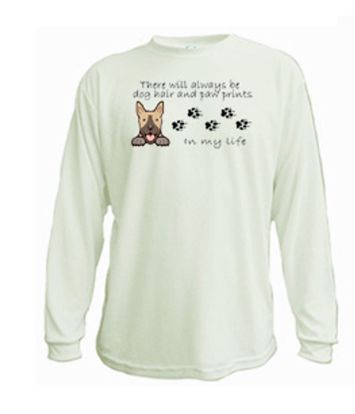 Canine Long Sleeved Tee - Dog Hair and Paw Prints