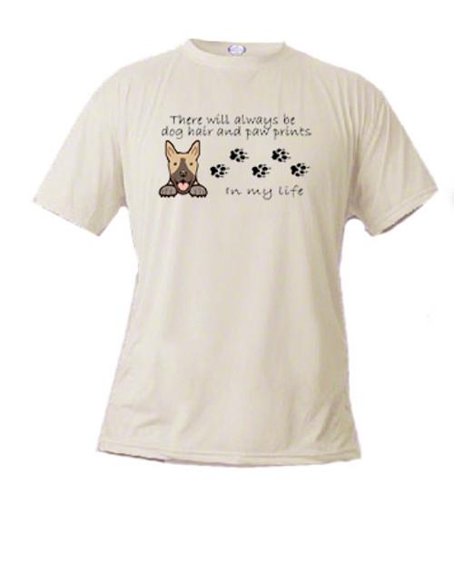 Canine Tee - Dog Hair and Paw Prints