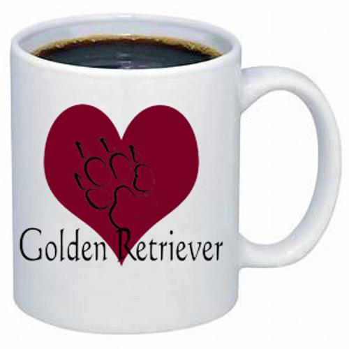 K9 Mug - Heart - Golden Retriever