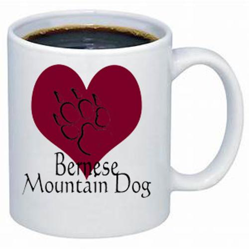 K9 Mug - Heart - Bernese Mountain Dog
