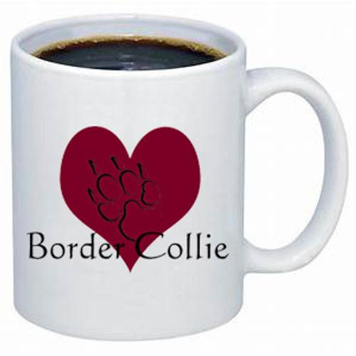 K9 Mug - Heart - Border Colllie