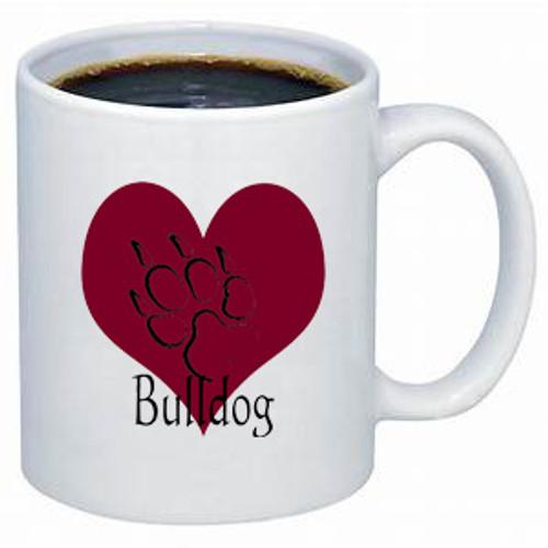 K9 Mug - Heart - Bulldog