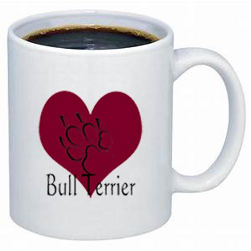 K9 Mug - Heart - Bull Terrier