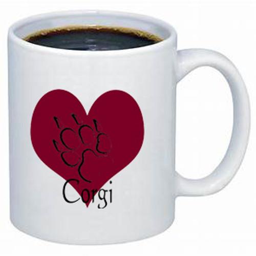K9 Mug - Heart - Corgi