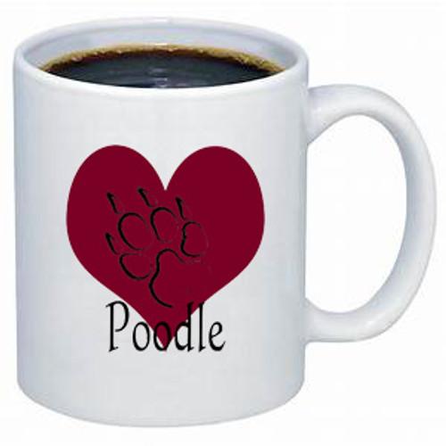Poodle lover's dog coffee mug