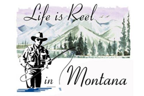 Montana fisherman's refrigerator magnet - Reel Life