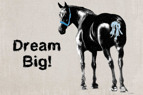 Draft horse refrigerator magnet - Dream Big