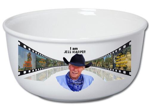 "Robert Fuller  stoneware popcorn bowl - ""I Am Jess"""