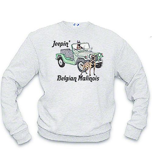 K9 Sweatshirt Jeepin' Malinois