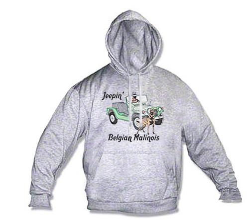 K9 Hoodie Jeepin' Malinois