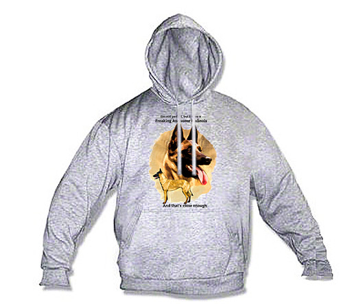 K9 Hoodie Freaking Awesome Malinois
