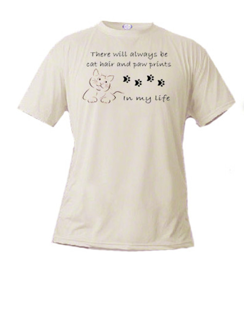 Cat T-shirt - Cat Hair and Paw Prints