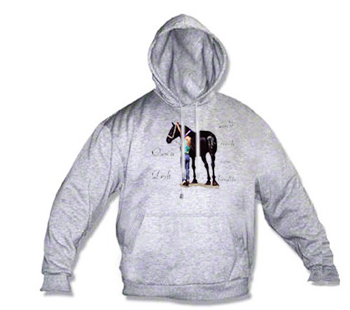 Percheron Draft Horse Hoodie - Reach New Heights