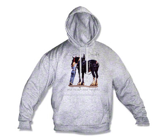 Shire Draft Horse Hoodie - Reach New Heights