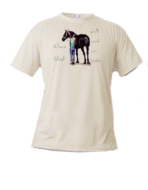 Percheron Draft Horse T Shirt - Reach New Heights