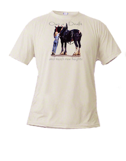 Shire Draft Horse T Shirt - Reach New Heights